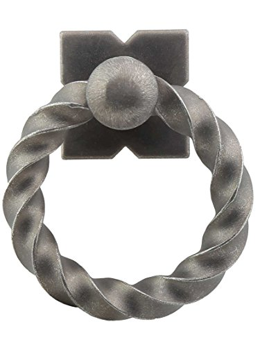 Rings Twisted Pewter - Top Knobs M640 Normandy Twisted Ring Pull Steel