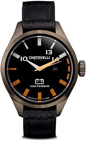 Chotovelli Men s Pilot Automotive Watch Alfa Romeo Gauge Italian Leather 54.100
