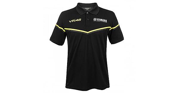 Valentino Rossi VR46 Moto GP M1 Black Line Yamaha Polo Camisa ...