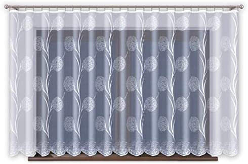 Jacquard Gardinen Mit Kräuselband Transparent Weiß Fenster Vorhang Ohne Bohren Pflegeleicht Oeko Tex Standard 100 Zertifizierung Premium