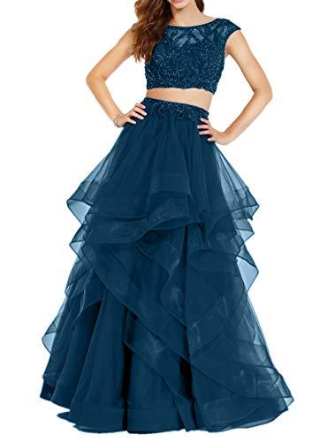 Linie Rock Perlen Royal Blau Tuell Brautmutterkleider Abendkleider Braut Blau Tinte A Promkleider Steine La Marie w7U16P