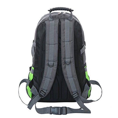 Mountaineering Bag Outdoor Männer und Frauen Schulter Rucksack nylon Große Kapazität Wanderpackage wasserdichte Bergsteigen Taschen , orange