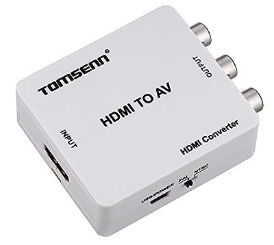 Tomsenn HDMI to AV 3RCA CVBs Composite Video Audio Converter Adapter For Xbox PS4 PS3 TV STB VHS VCR Camera DVD