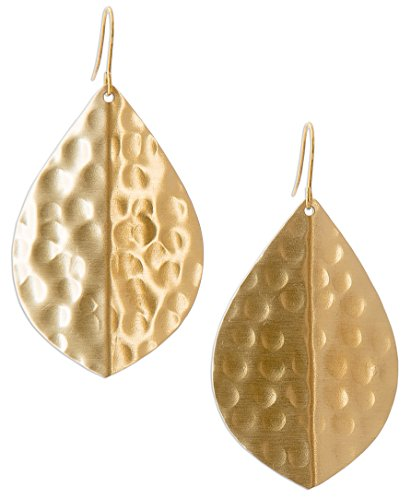 Hammered Earrings Teardrop SPUNKYsoul Collection