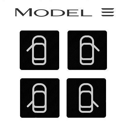 Tesla Model 3 Door Button Decal//Label//Sticker Set Tarsier