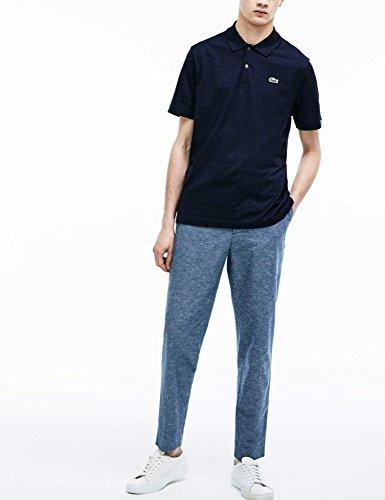 ve L Bleu shirt Regular Lacoste T Check d5wFx8