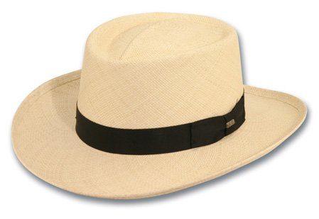 Scala Mens Panama Gambler Hat