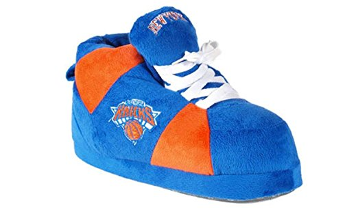 NYK01-3 - New York Knicks - Large - Happy Feet Mens and Womens NBA Slippers