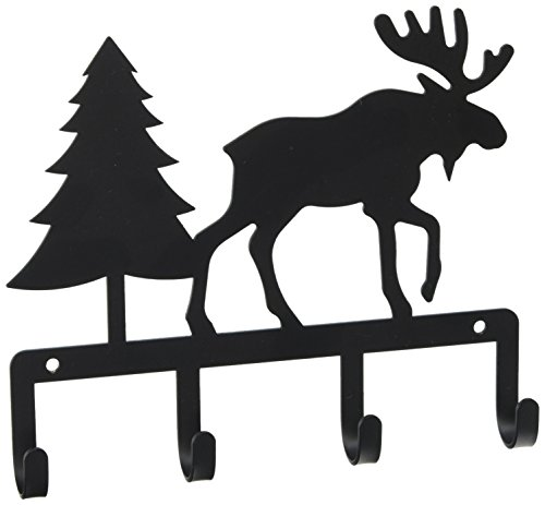 7.75 Inch Moose and Pine Key Holder