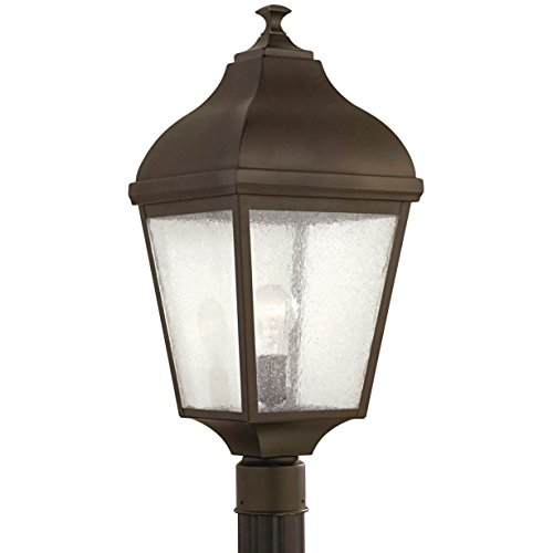 Terrace One Light Outdoor Post Lantern in Oil Rubbed Bronze Bulb Type: Incandescent by Feiss