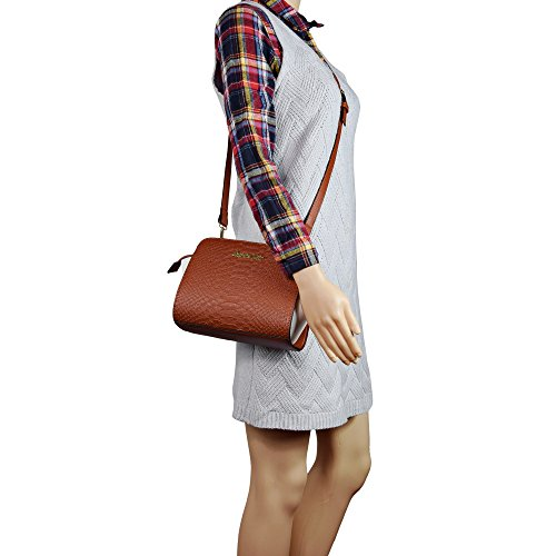 Snake Brown Purse Bag Cross Messenger Pattern Body Small Women Wing Leather PU Bag tqUR7wHx