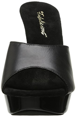 Leather Cocktail Size 42 Fabulicious Uk blk 501l Eu 9 Blk qg6HAHtW7