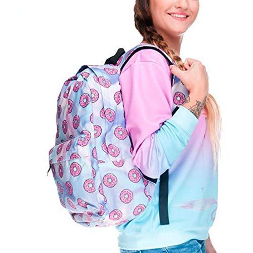 Donut Casual Tracolla Donne Teenager A Onemoret Oxford Cute Stampa Ragazze Zaino Zaini Viaggio Da B8WRFg