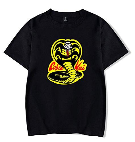 Simplicity Mens Womens Pattern - SIMYJOY ENJOY THE SIMPLICITY SIMYJOY Cobra Kai T-Shirt Karate Tee Cool Retro Top for Men Women Teen Black 2XL