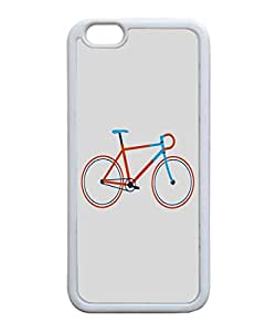 VUTTOO Iphone 6 Case, Hipster Bike TPU Case for Apple iPhone 6 4.7 Inch White