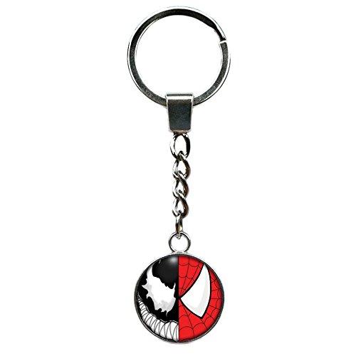 Athena Brand Spiderman & Venom Marvel Comics Key Ring Keychain for House Boat Auto -
