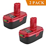 Biswaye 2 Pack 19.2V 4.0Ah C3 XCP Replacement Lithium Ion Battery for Craftsman C3 Lithium 130211004 11375 11045 130279005