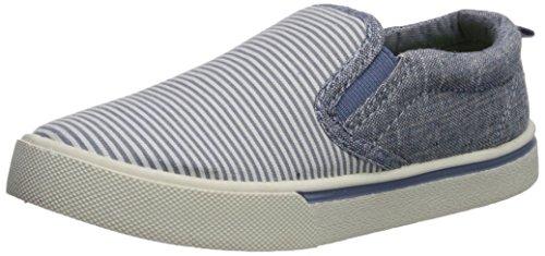OshKosh B'Gosh Boys' Austin Casual Slip-On Sneaker, Blue, 6 M US Toddler