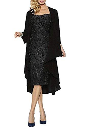 CoCogirls Spitze Jacke Partykleid Hochzeit Schwarz Mutter Ballkleid Abendkleider mit Hochzeitskleid Abendkleid Brautmutterkleid 447qar