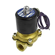 """uxcell® 2W-160-15 1/2"""" Two Way Air Water Oil Gas Solenoid Valve AC 24V"""