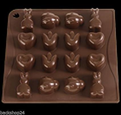 Molde de silicona Choco-Ice Oster diseños, Pavonidea