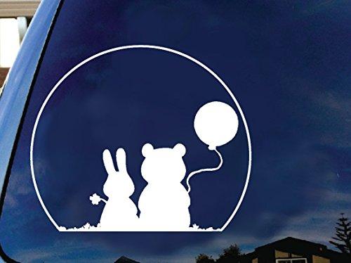Art's Disney character beautiful Friendship silhouette car truck laptop macbook window decal sticker 6 inches white]()