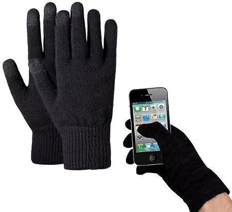 Ledeli Guantes para pantalla táctil para iPhone iPad Smartphone Tablet PC Touch Screen Gloves, color negro, tamaño small: Amazon.es: Deportes y aire libre