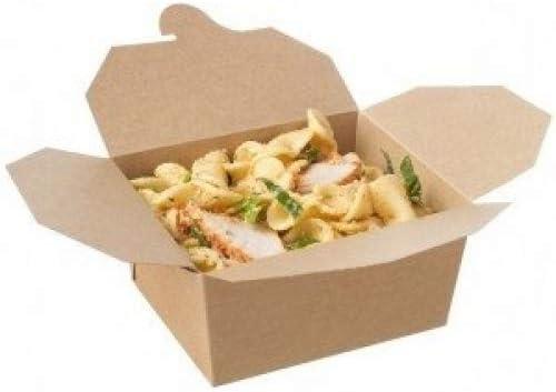 Jenpak - 50 cajas de comida para llevar biodegradables, a prueba ...