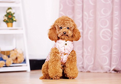 [Dog & Cat Warm Cotton-Padded Small Ears Autumn and Winter Vest Clothes Pink Color (S)] (Princess Riding Unicorn Dog Costume)
