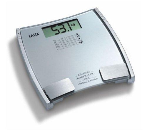 165 opinioni per Laica PL8032 Bilancia Pesapersona Digitale 150 kg/100 g, Misura Grasso, Acqua,