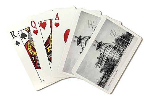 St. Petersburg, Florida - Hotel Detroit Exterior View (Playing Card Deck - 52 Card Poker Size with Jokers)