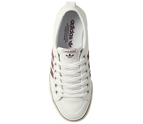 Leuke Sneaker White Adidas Unisex-volwassene (schoeisel Wit / Collegiale Burgundy000)