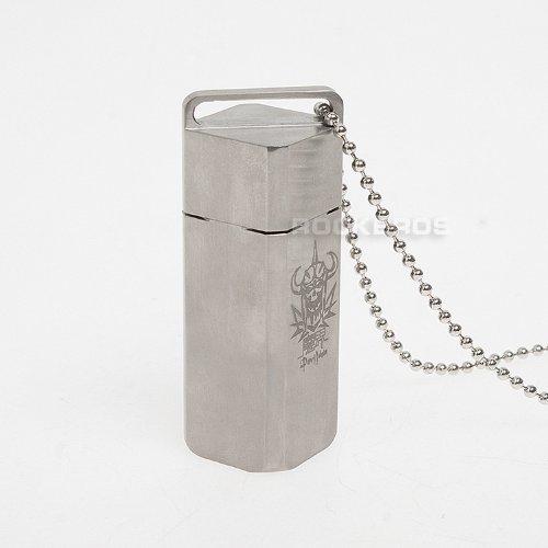 RockBros Titanium Ti Rectangle Capsule Case Pendant EDC for Hiking Survival