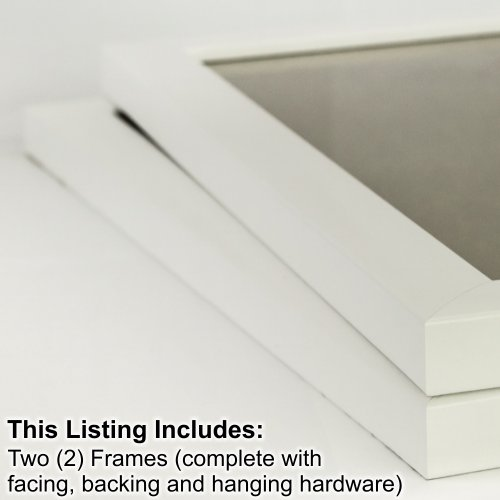 Craig Frames 23247812 18 by 24-Inch Picture Frame 2-Piece Set, Smooth Finish, 1-Inch Wide, White