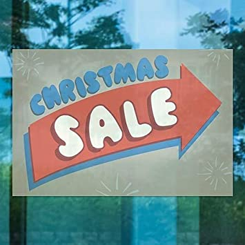 5-Pack Nostalgia Arrow Window Cling CGSignLab 27x18 Christmas Sale