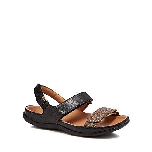 Black Strive Sandals 'Kona' Womens Leather wwAr5Yq