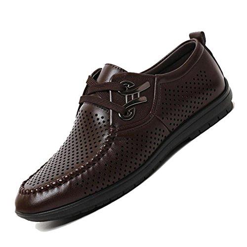 in Scarpe Traspiranti Casual Sandali Business Baotou da da Sandali Scamosciata Brown Uomo Uomo Pelle Sandali OTx7qFtT