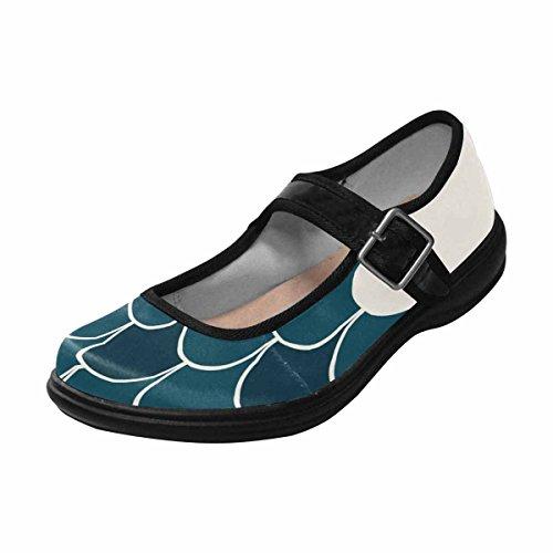 Interestprint Womens Comfort Mary Jane Flats Casual Walking Shoes Multi 4