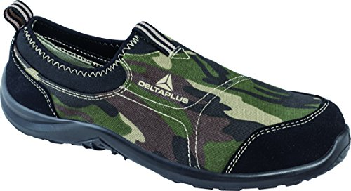 Deltaplus , Herren Sicherheitsschuhe schwarz schwarz Camouflage