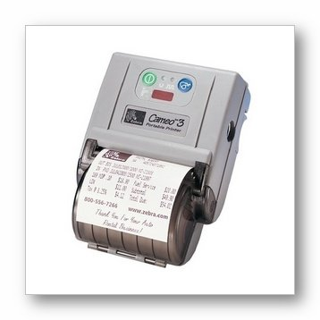 B/w Direct Thermal Roll - Zebra Cameo 3 - Label printer - B/W - direct thermal - Roll (3.1 in) - 203 dpi - up to 180 inch/min - Serial, Bluetooth