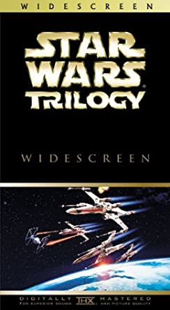 Amazon Com Star Wars Trilogy Widescreen Edition Vhs Mark Hamill Harrison Ford Carrie Fisher Alec Guinness Peter Cushing Anthony Daniels Kenny Baker Peter Mayhew David Prowse Phil Brown Shelagh Fraser Jack Purvis George