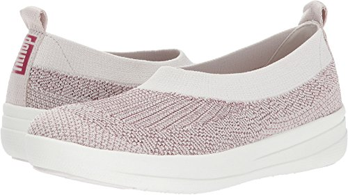 FitFlop trade; Womens Uberknit™ Slip On Ballerina Stone/Rose Gold Metallic Size 10 by FitFlop