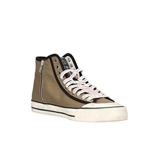 D.A.T.E. sneakers uomo 42 EU verde nero tessuto camoscio AF425