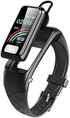 Y&SJ Fitness Tracker, Smart Wristband Bluetooth Earphone 2 in 1 for Android iOS Heart Rate Monitors Blood Pressure Monitoring ECG PPG Activity Tracker