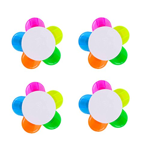 eKoi 5 Color in 1 Pocket Handy Cute Kawaii Rainbow Sunflower Multi-Colored Highlighter Pen (4 Pack Value Combo for Kids Kindergarten School Drawing Learning Activity)