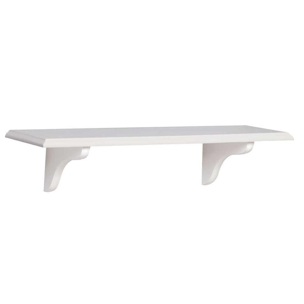 John Sterling Shelf-Made KT-0148-824WT Wood Shelf Kit, White, 8-Inch by 24-Inch
