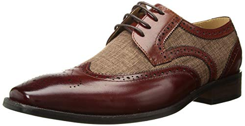 STACY ADAMS Men's Kemper Wingtip Lace-Up Oxford tan Multi, 11.5 M US