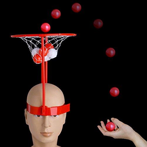 Cencity Headband Hoop Ball Toy Catching Basketball Kid Game Head Strap with 20 Balls  for Kids, Raves, Birthday, Wedding, Christmas, Halloween, Children Party Decor Toy ()