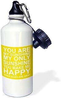Moson Sports Bouteille d'eau Cadeau pour Enfant Fille garçon, You are My Sunshine en Acier Inoxydable Bouteille d'eau pour l'école Bureau Voyage 595,3Gram