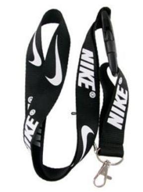 Nike Black Lanyard Keychain Holder